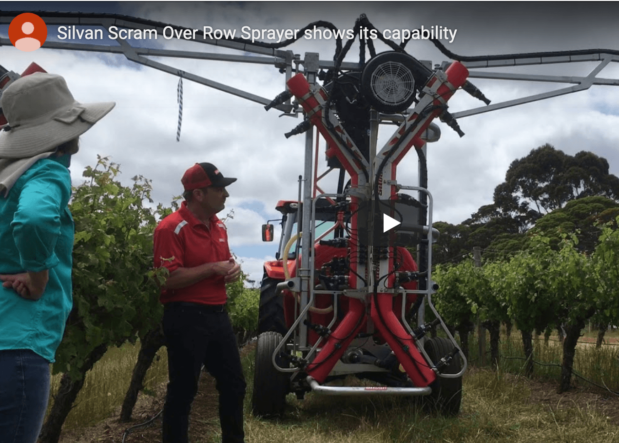 Silvan Scram Over Row Sprayer shows its capability In Margaret River